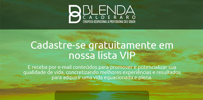 PÁGINA DE CAPTURA BLENDA CALDERARO